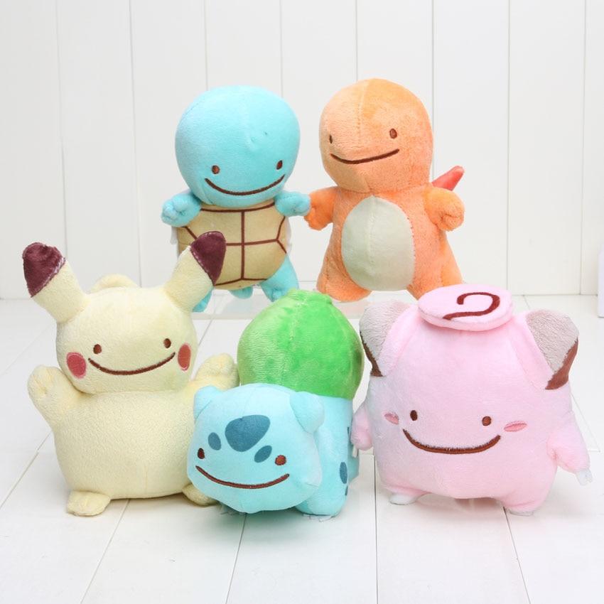 lot 5 peluches pokemon 12-18 cm