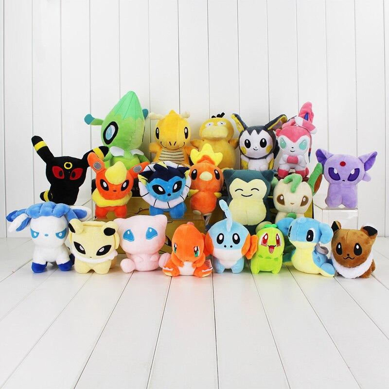 lot 20 peluches pokemon 12-18 cm rongzou