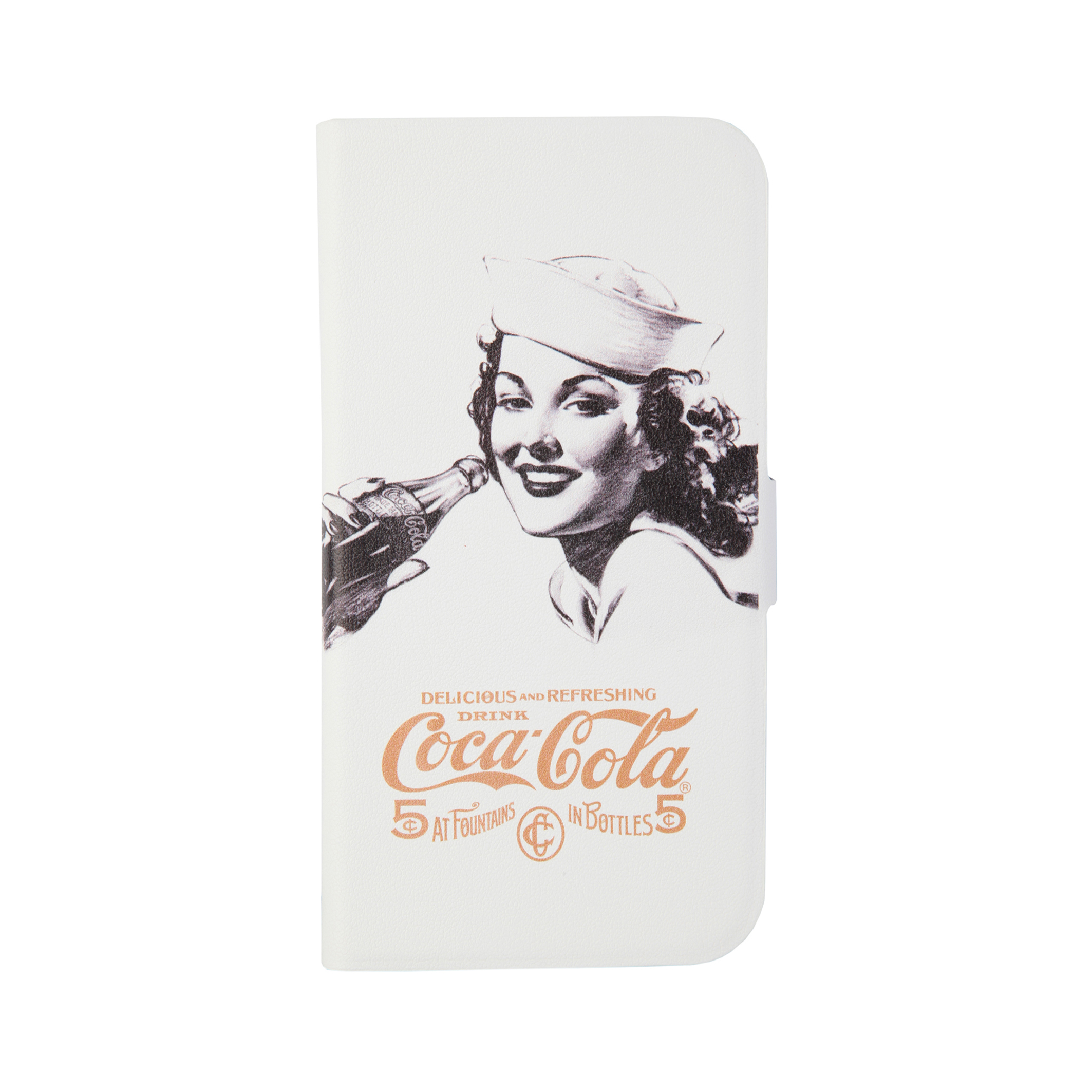 Coca-Cola - Booklet Case -Samsung Galaxy - S4 - Golden Beauty- Printed PU
