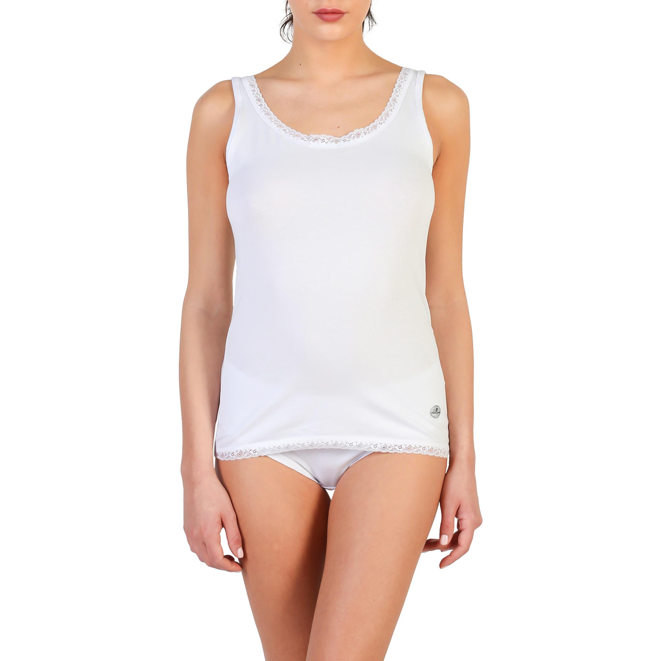 débardeur femme pierre cardin underwear PCD_BEGONIA_BIANCO