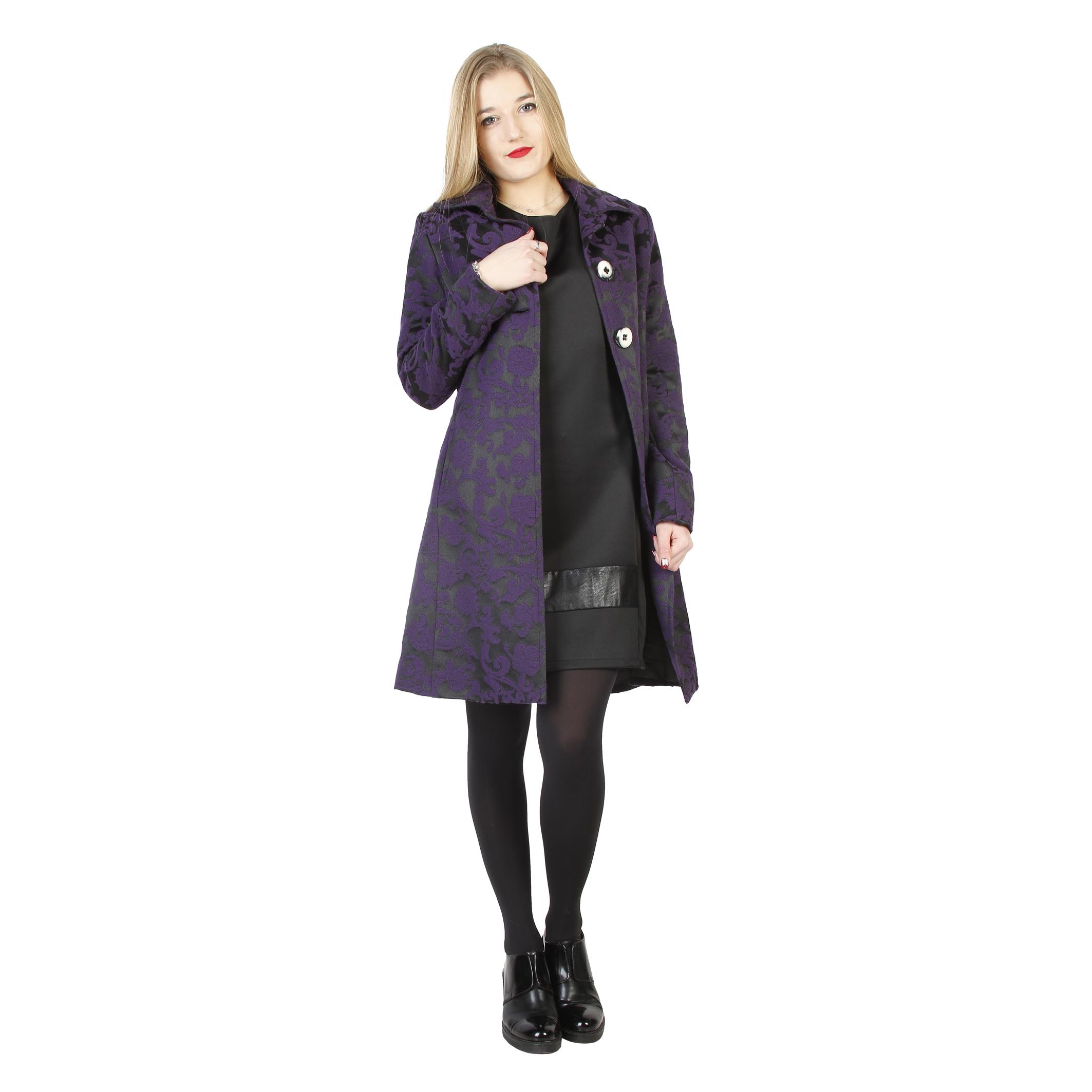manteau droit fontana 2.0 ESMERALDA_JACQUARD_PURPLE