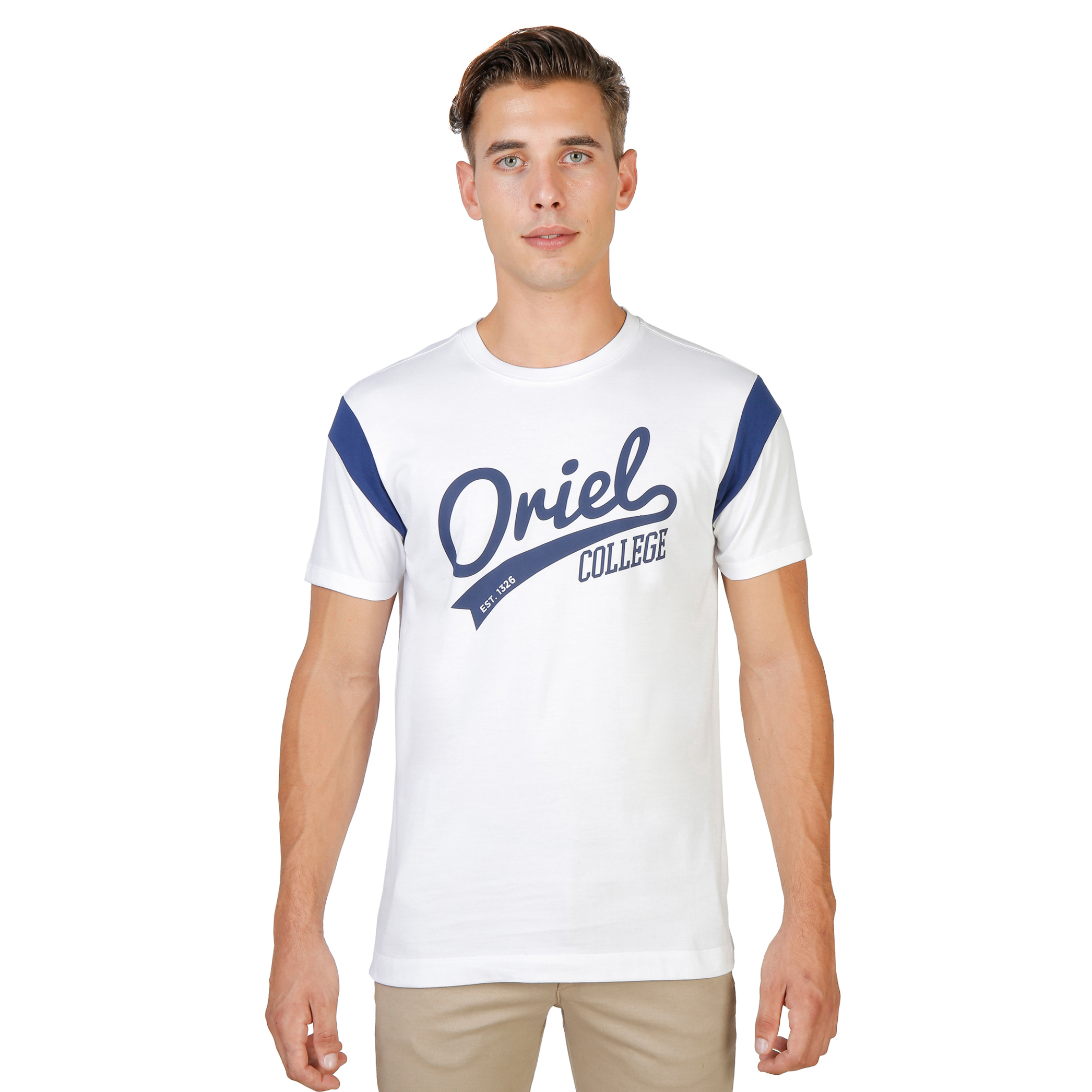tee shirt homme oxford university ORIEL-VARSITY-MM-WHITE