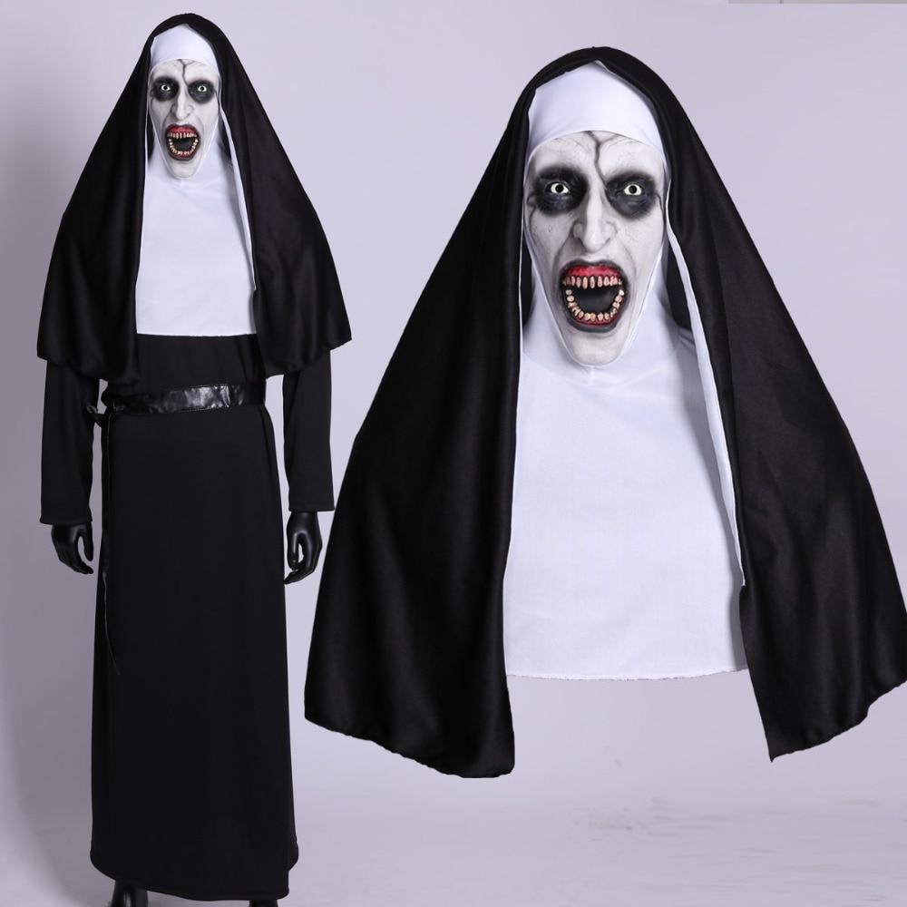 Masque la nonne conjuring masque halloween de luxe