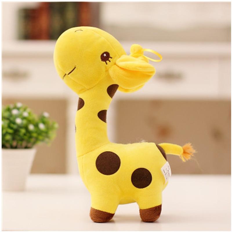 peluche girafe 18 cm coloris au choix