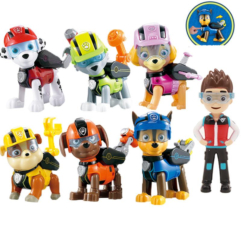 lot 7 figurines Paw Patrol Pat\'Patrouille