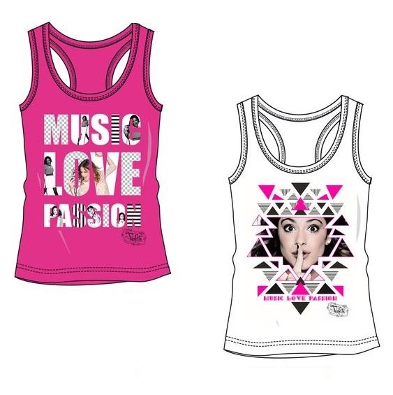 Débardeur t-shirt violetta fille  rose ou blanc 6 ans au 12 ans