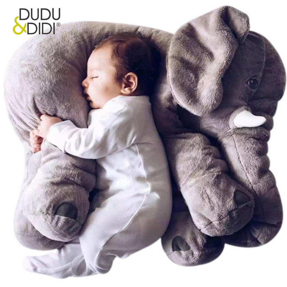 Coussin elephant bebe 60 cm Dudi et Didi 40-60 cm