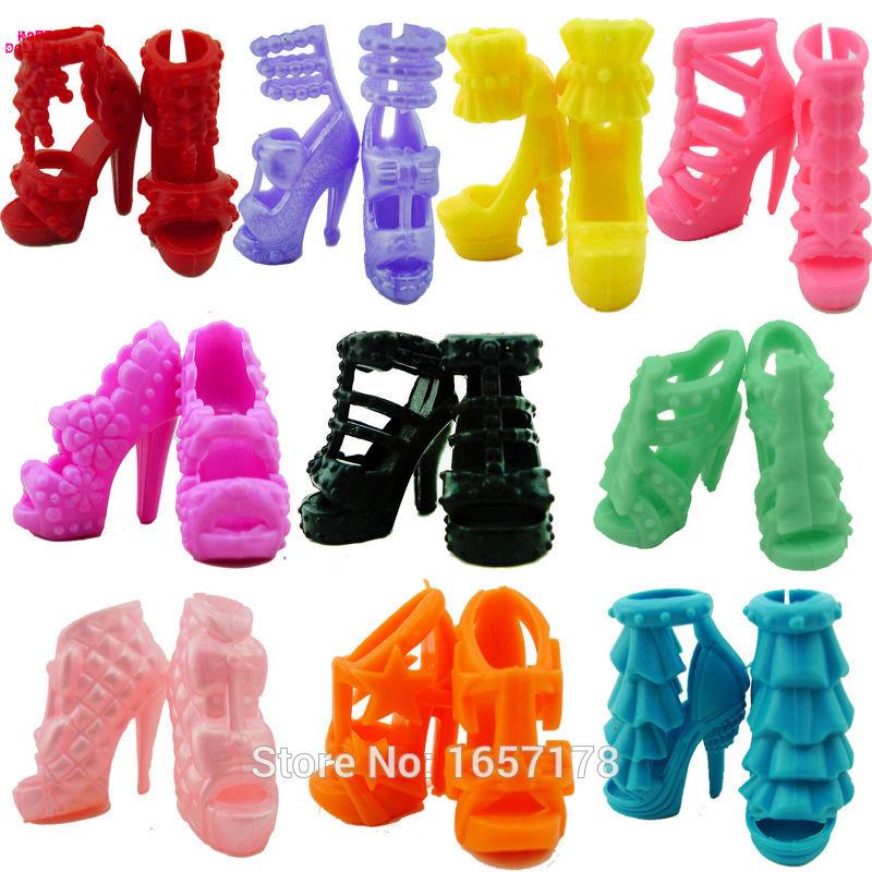 lot 10 paires chaussures talon bjdbus pour barbie