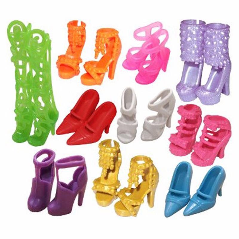 lot 10 paires chaussures pour barbie papabasi
