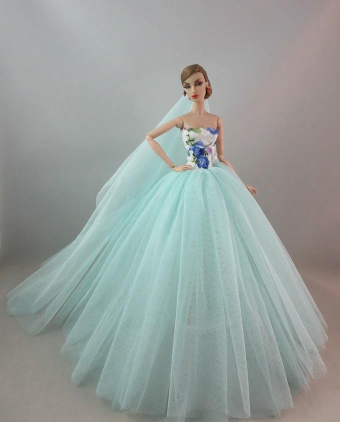 robe de mariée pour barbie divers coloris NPKDOLL