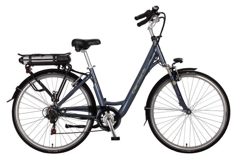 vélo électrique femme clermont 28 gris bleu