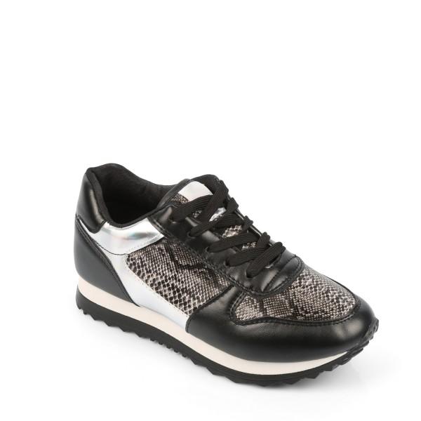 Baskets citadine noir femme C9390 Idéal Shoes