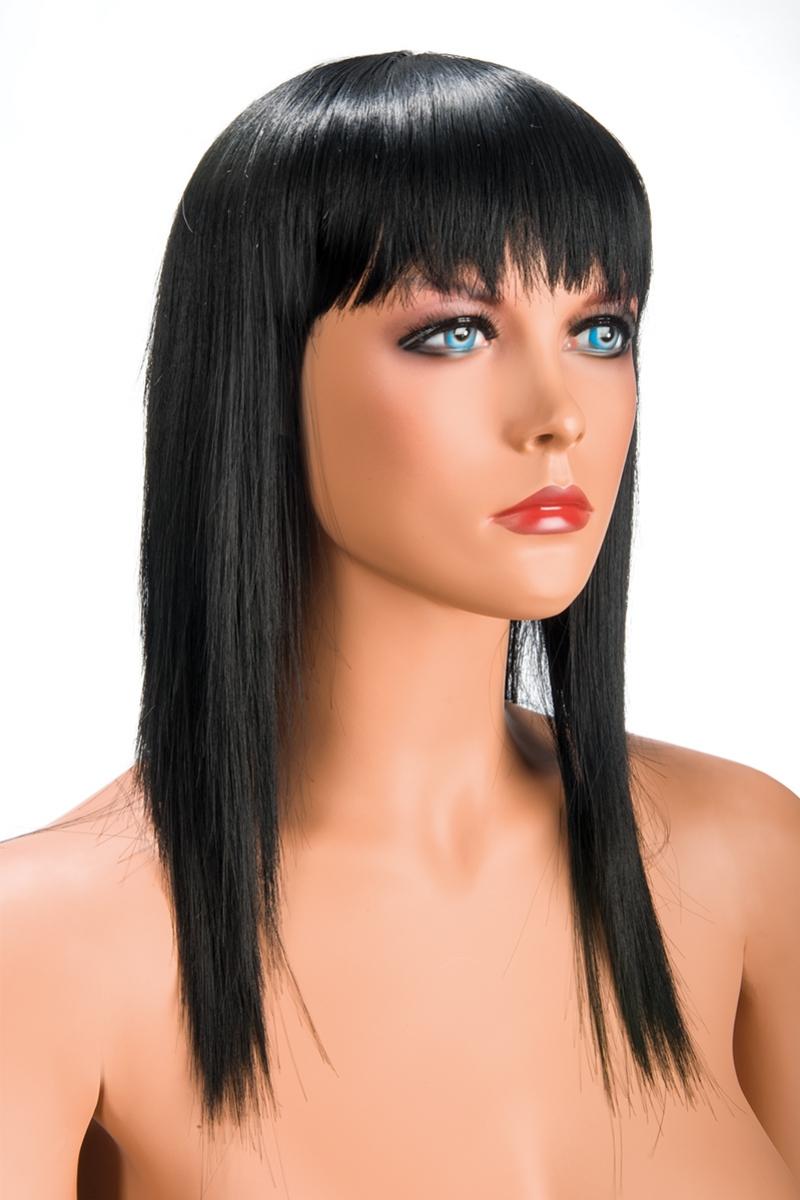Magasin de perruque femme brune Allison perruque synthétique