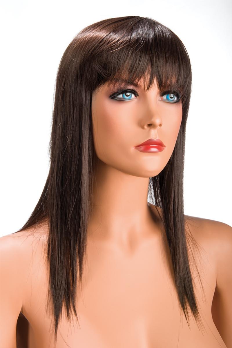 Magasin de perruque femme châtain Allison perruque synthétique