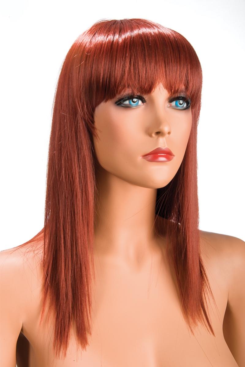Magasin de perruque femme rousse Allison perruque synthétique