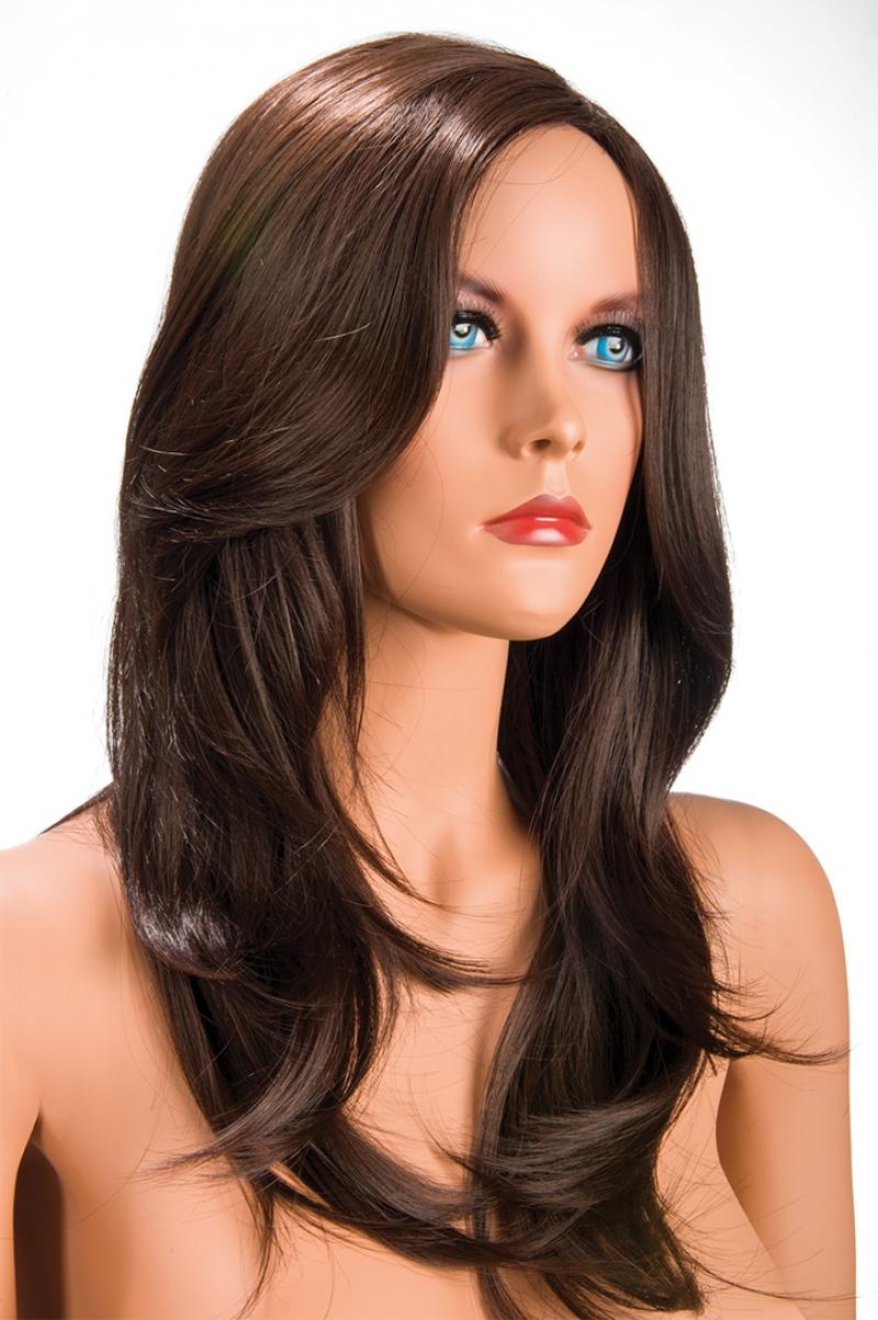 Magasin de perruque femme châtain Olivia perruque synthétique