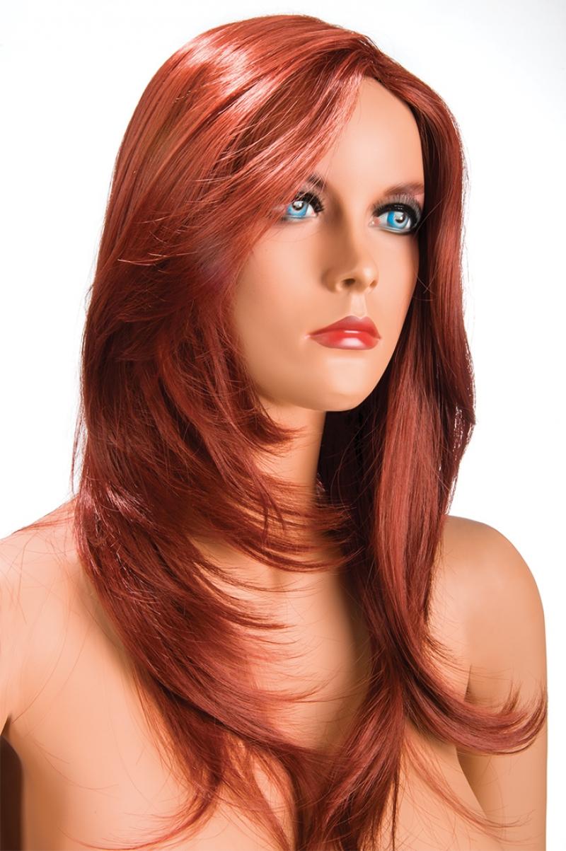 Magasin de perruque femme rousse Olivia perruque synthétique