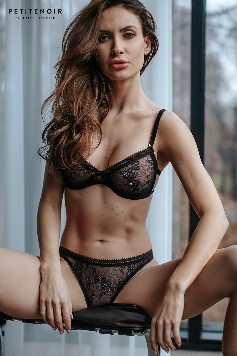 Soutien gorge balconnet dentelle petite noir lingerie