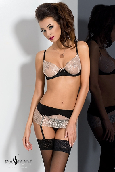 Lotus ensemble lingerie - Noir passion exclusive