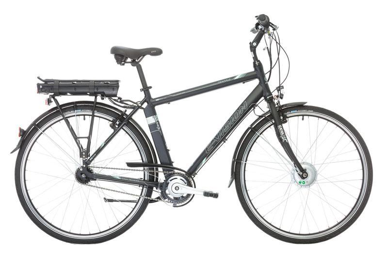 vélo électrique homme e-vision deau-vil 28 hauteur cadre 48 noir mat