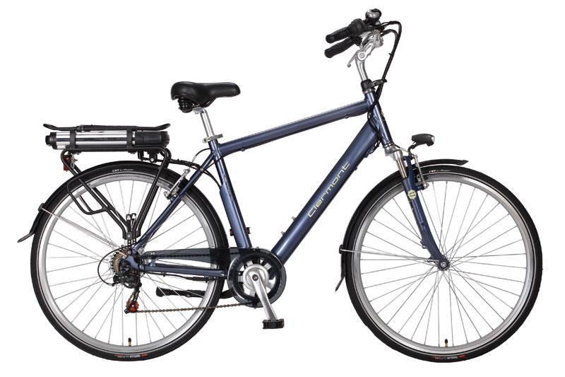 vélo électrique homme clermont 28 hauteur cadre 52 gris bleu