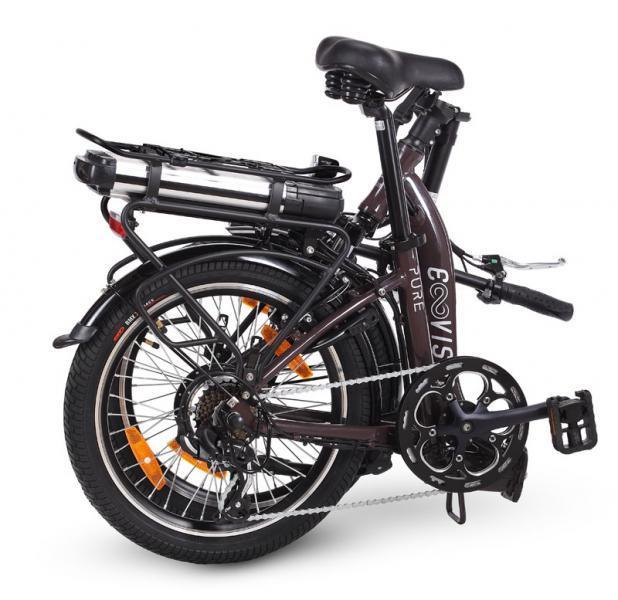 vélo électrique femme e-vision pure 20 hauteur cadre 31 brun café