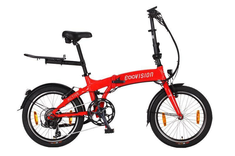 vélo électrique femme e-vision active 20 hauteur cadre 33 rouge