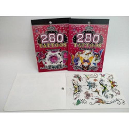 assortiment 280 adhésifs tatouages aléatoires