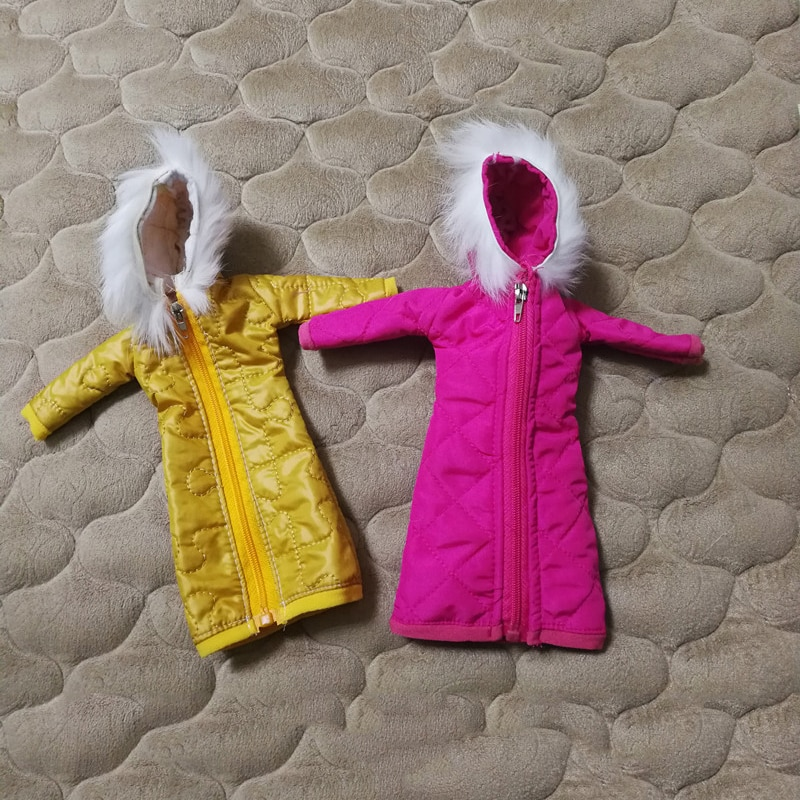 long manteau pour barbie divers coloris