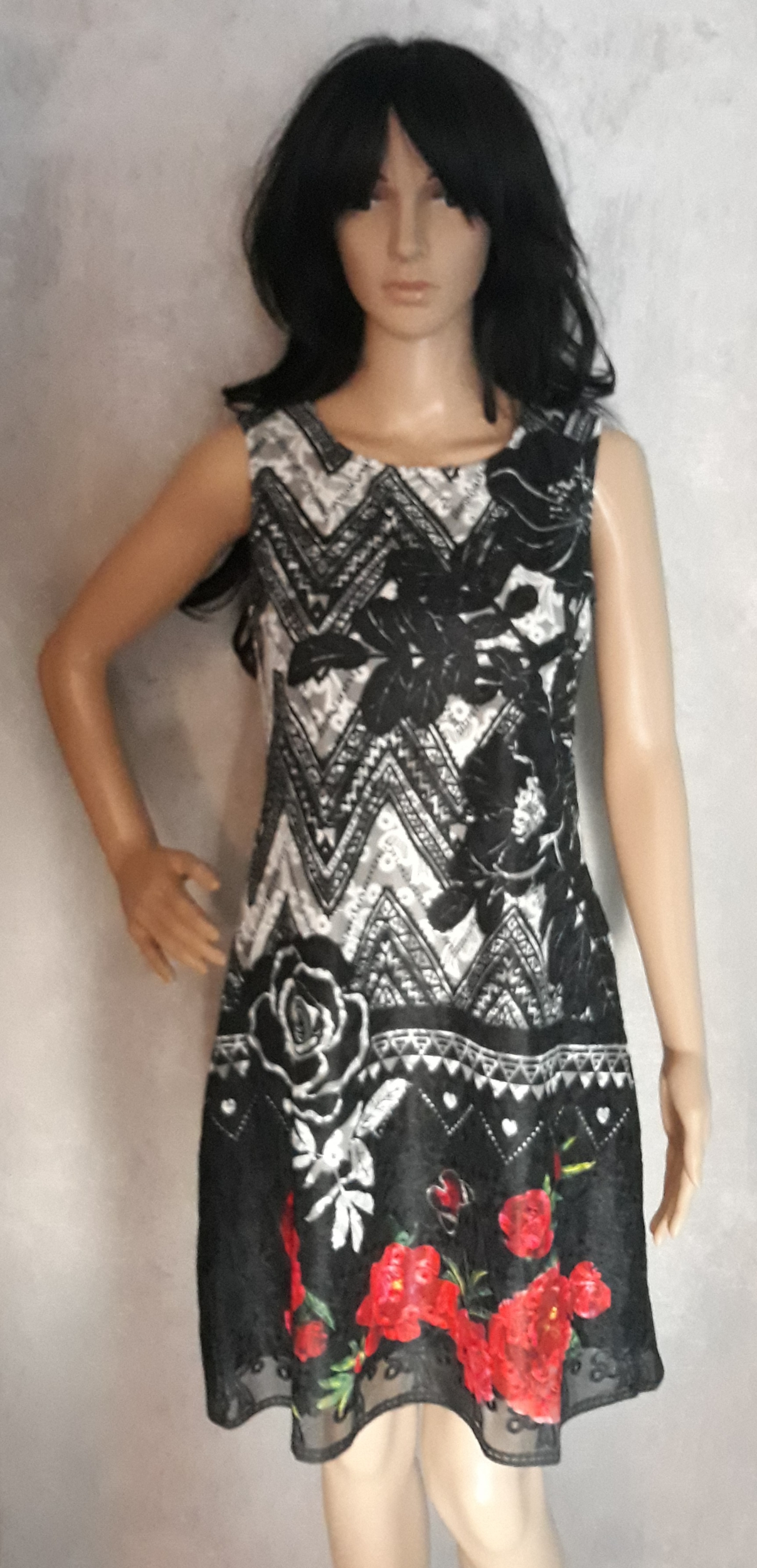 Robe 101 idées soldes 101 idees paris femme imprimé noir A1515