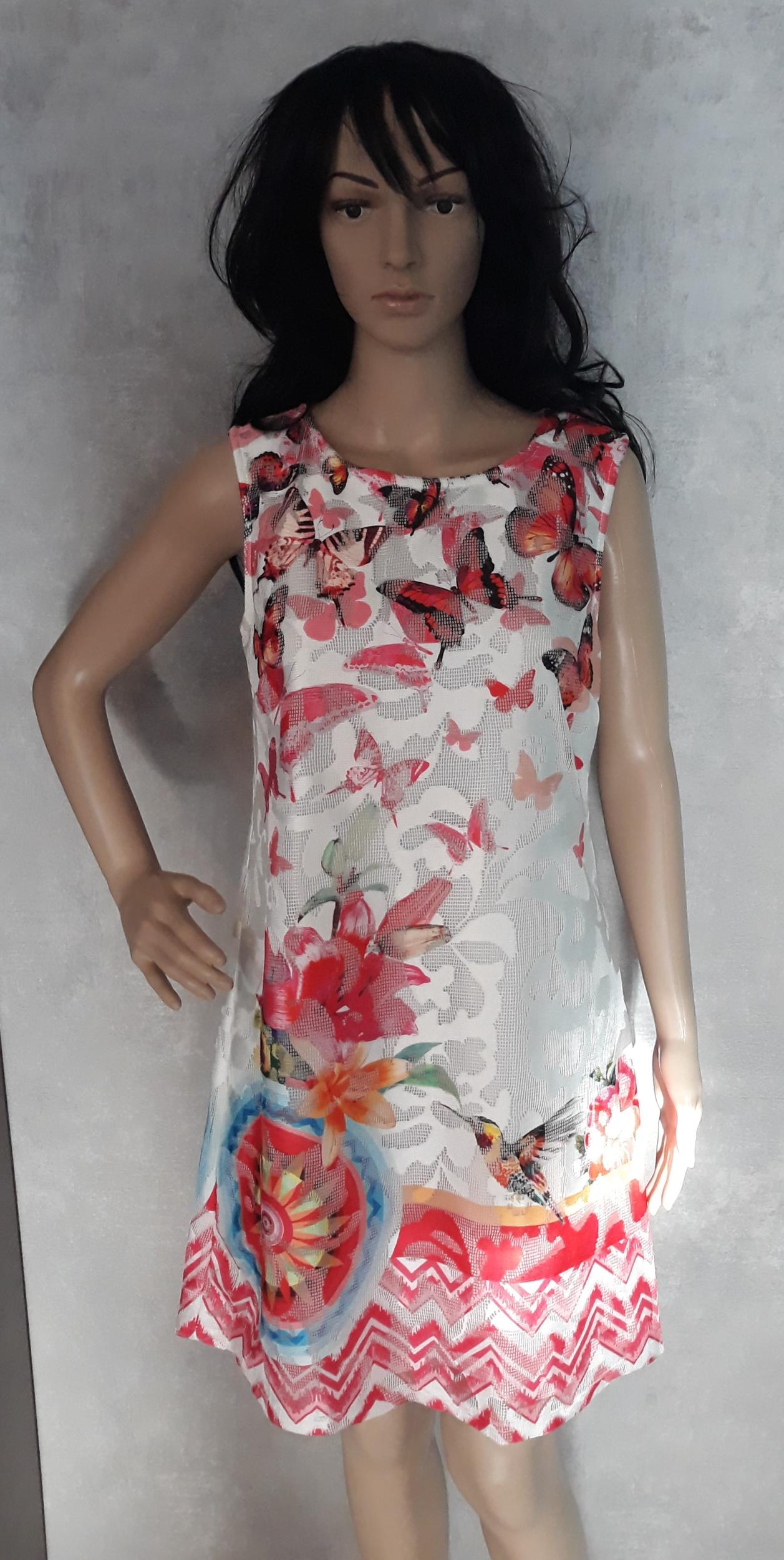 robe 101 idées droite zippée à imprimé graphique eo h258 rose