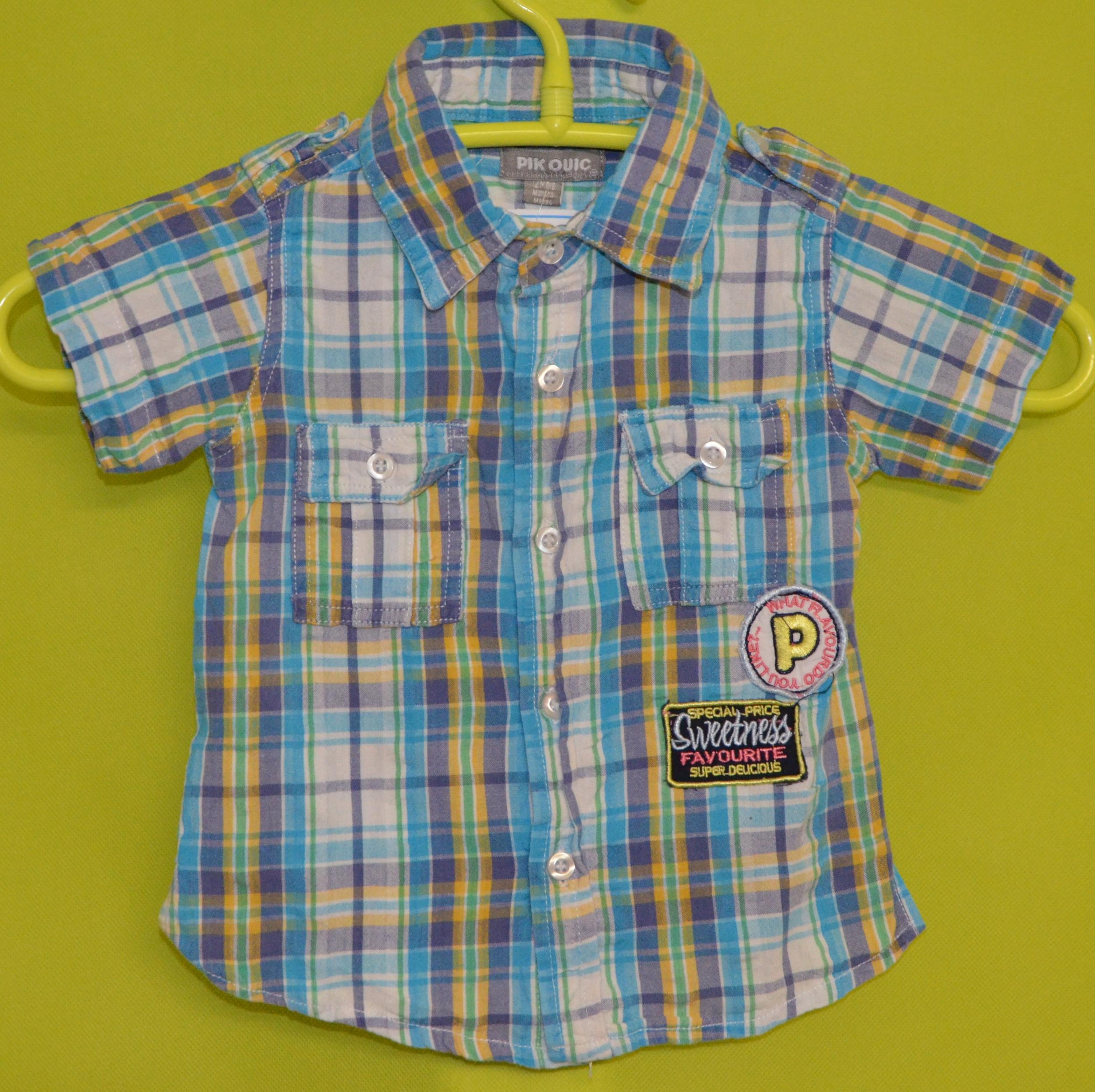 chemise pik ouic 12 mois