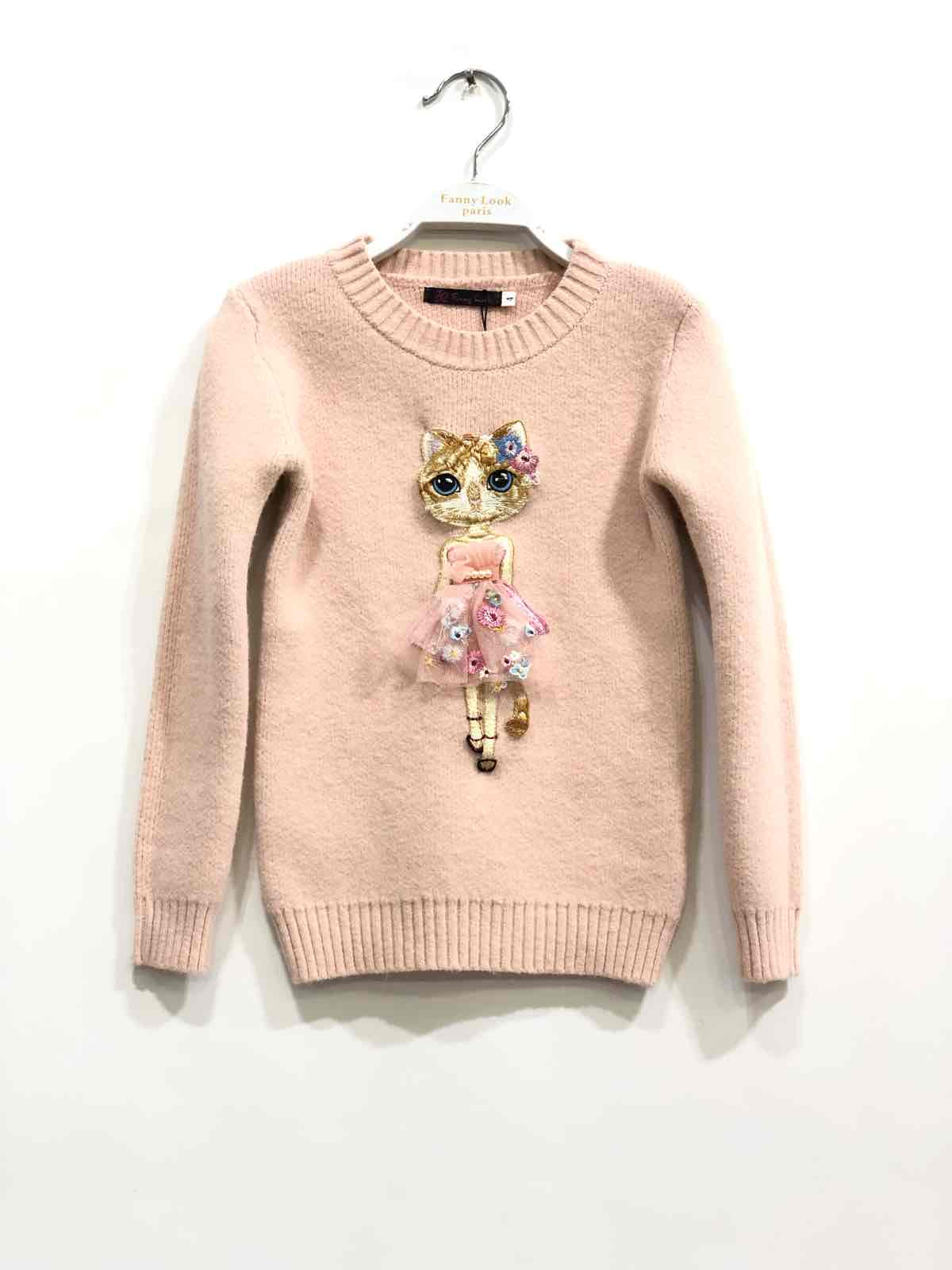 pull blush fille 4-14 ans fanny look F56 collection automne/hiver 2020
