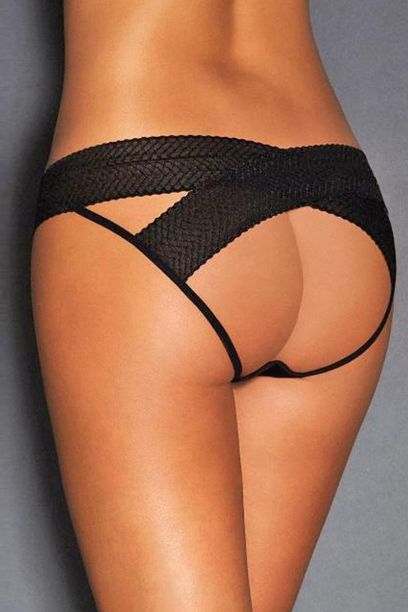 Culotte ouverte noire paris hollywood