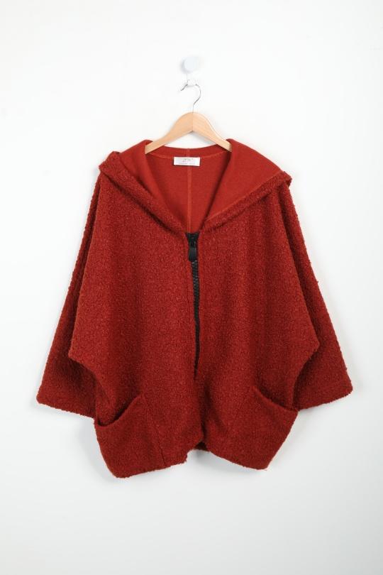manteau grande taille femme 2W PARIS m1291 rouille 46-60