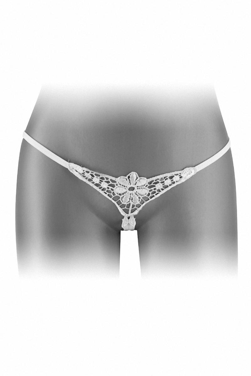 string fendu dentelle blanc danuta fashion secret taille unique