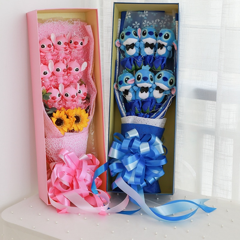 bouquet de peluches stitch artificielles sweet mu cheng