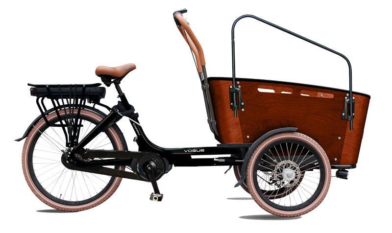 Triporteur electrique 26 carry III noir brun mat