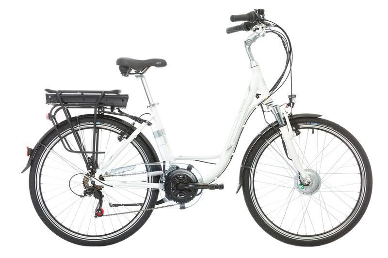 vélo électrique femme e-vision deau-vil 26 hauteur cadre 43 blanc