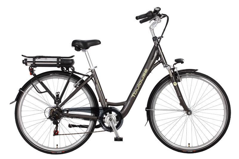 vélo électrique femme toulouse H46 gris foncé 28