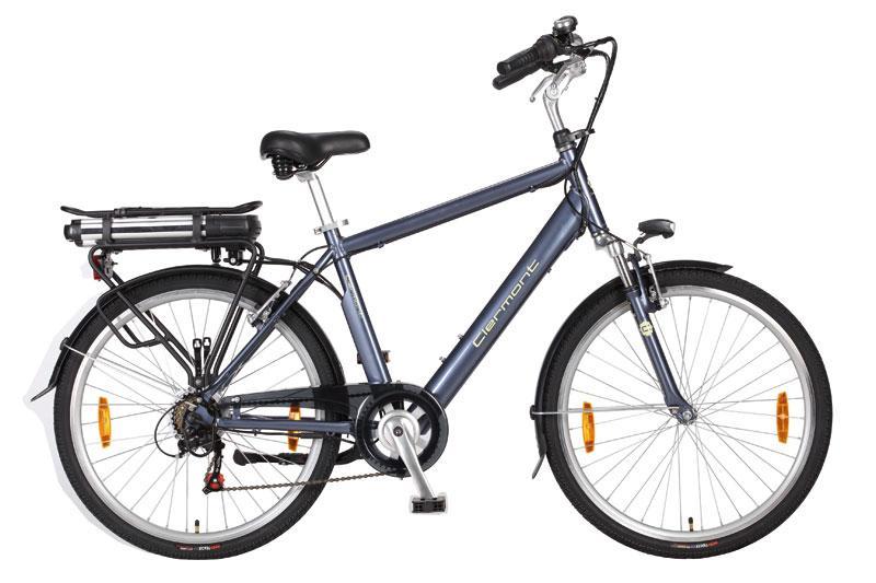 vélo électrique homme clermont 26 hauteur cadre 48 gris bleu