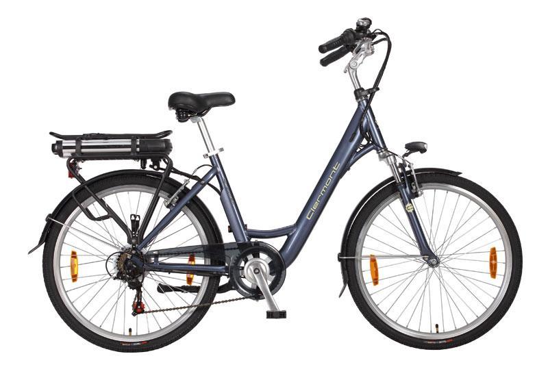 vélo électrique femme clermont 26 gris bleu