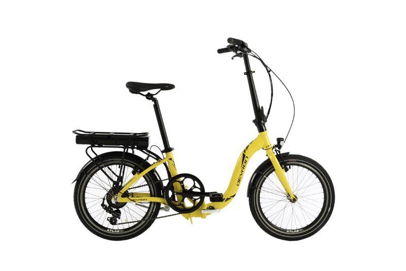 vélo électrique devron electric folding H42 jaune 20