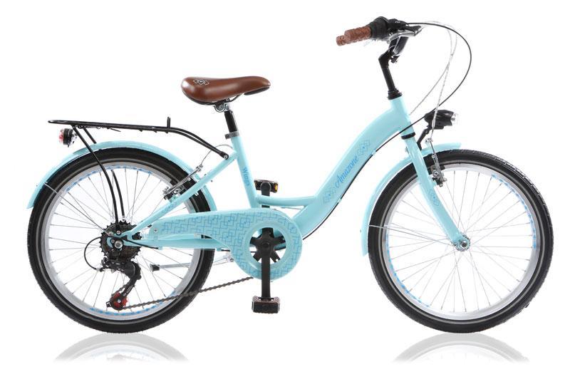 citybike enfant amazone 20 6 vitesses bleu clair
