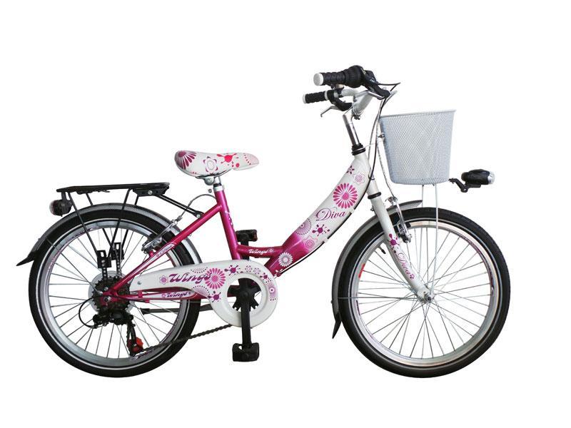 citybike enfant diva 20 6 vitesses fushia blanc