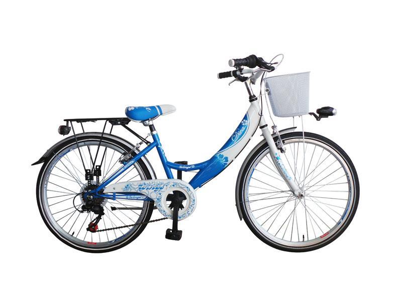 citybike enfant diva 22 6 vitesses bleu blanc