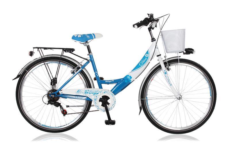 citybike enfant diva 24 6 vitesses bleu blanc