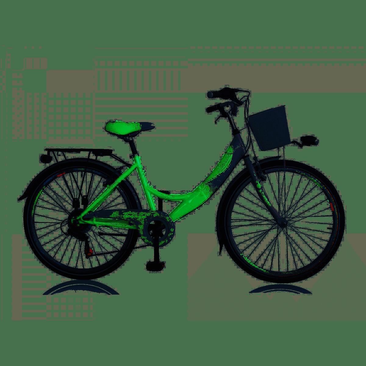 citybike enfant diva 24 6 vitesses vert blanc