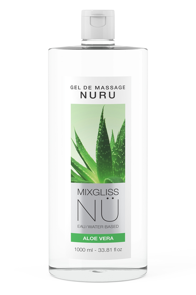 Gel de massage sensuel Nuru aloe vera mixgliss - 1 litre