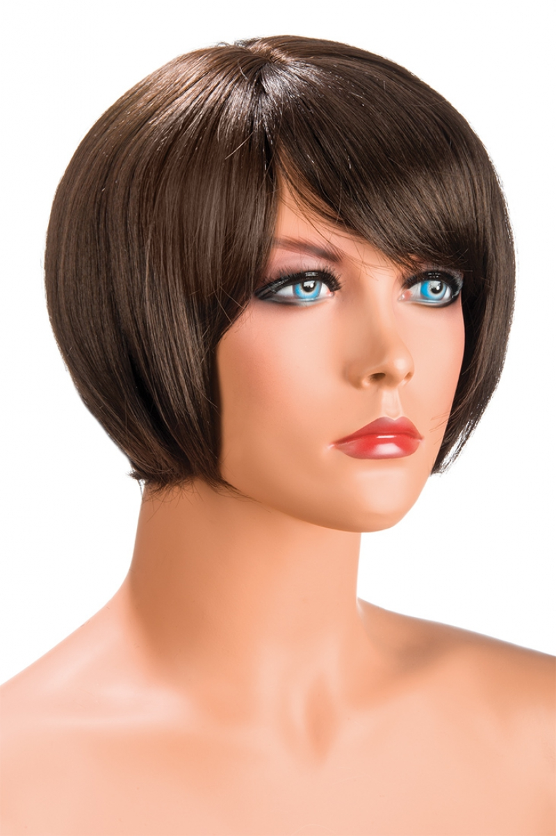 Perruque femme courte Mia chatain World Wigs